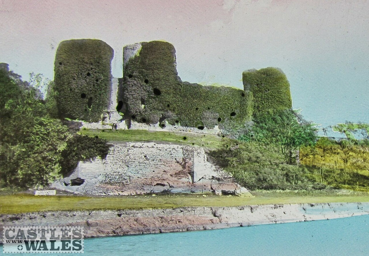 Rhuddlan Castle Magic Lantern Slide c.1890