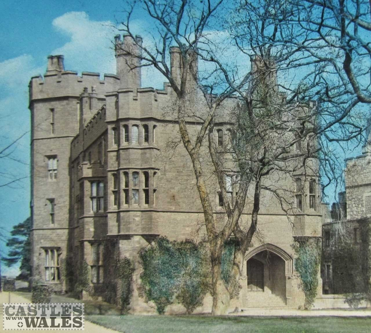 A Magic Lantern Slide of Ruthin Castle c.1890